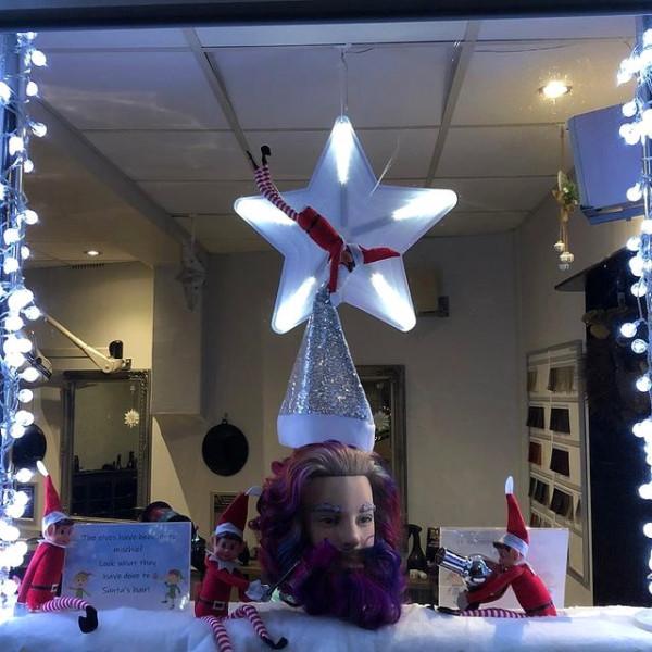 Christmas window Rusthall competition